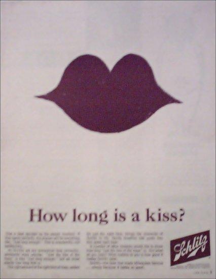 1964 Schlitz Beer Lips ad