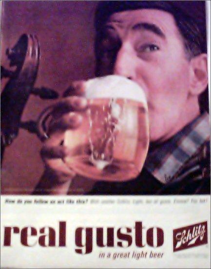 1964 Schlitz Beer ad #2