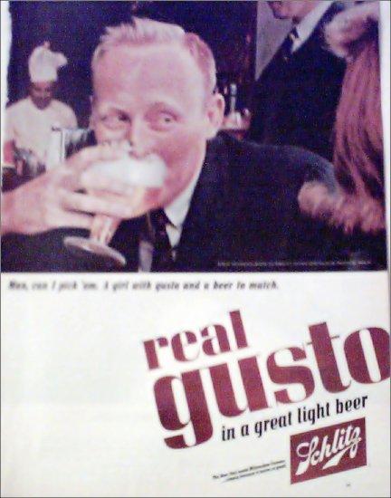 1965 Schlitz Beer ad #5