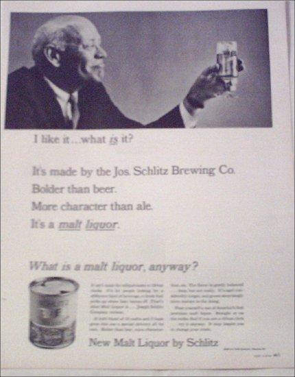 1964 Schlitz Malt Liquor ad #1