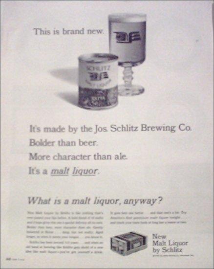 1964 Schlitz Malt Liquor ad #2