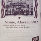1965 Schlitz Beer Nome ad