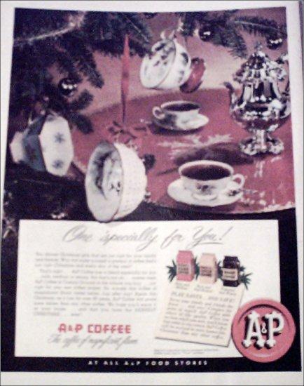 A&P Coffee Christmas ad