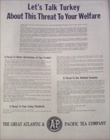 1950 A&P Anti Trust ad