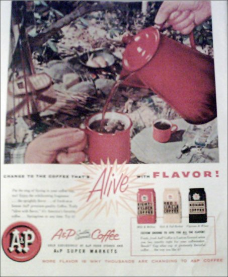 1956 A&P Coffee ad