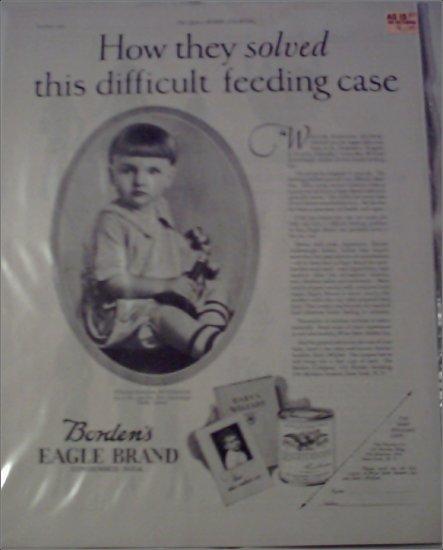 1925 Borden Eagle Brand Milk ad