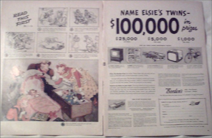 1957 Borden's Name Elsies Twins ad
