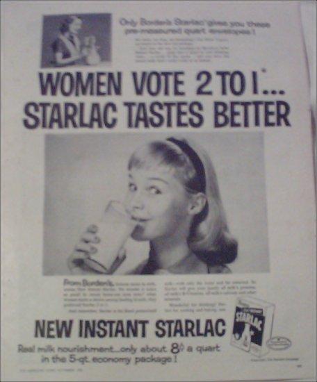 1955 Borden's Starlac Milk ad