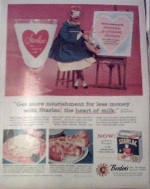 1957 Borden's Starlac Milk ad #1