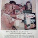 1961 Borden's Starlac Milk ad