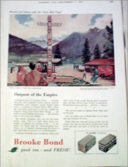 1956 Brooke Bond Tea ad from the UK