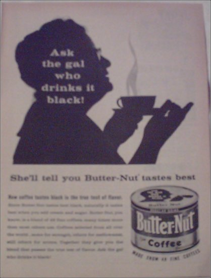 1957 Butter-Nut Coffee ad