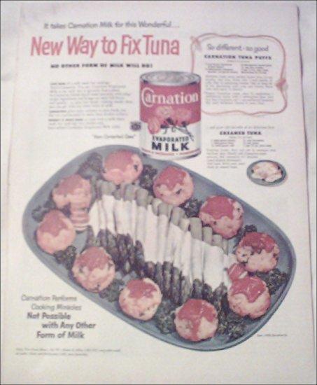 1952 Carnation Milk ad