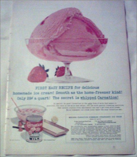 1957 Carnation Milk ad