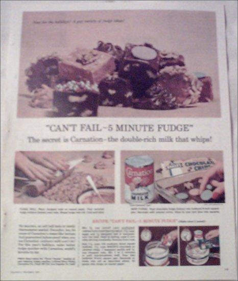 1958 Carnation Milk ad
