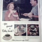 1953 Coffee-break ad featuring George Burns & Gracie Allen