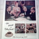 1953 Coffee-break ad featuring Charles Boyer, Agnes Moorehead & Charles Laughton