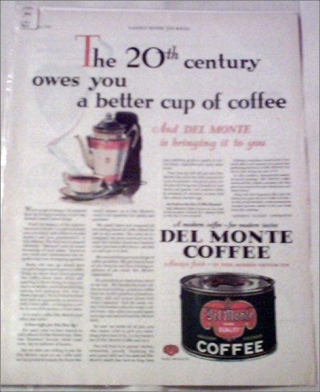 1930 Delmonte Coffee ad