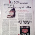 1930 Delmonte Coffee ad