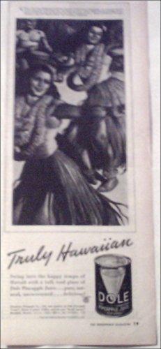 1938 Dole Pineapple Juice ad #2