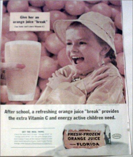 1961 Florida Orange Juice ad
