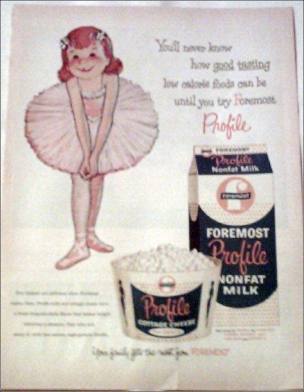 Foremost Profile Milk ad