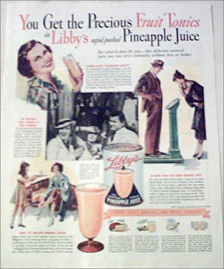 1936 Libbys Pineapple Juice ad