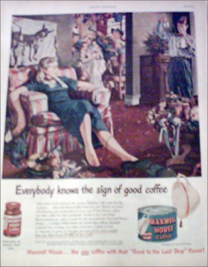 1951 Maxwell House Coffee ad