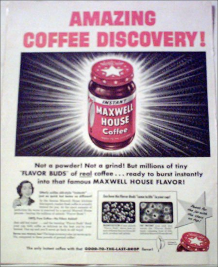 1953 Maxwell House Coffee ad