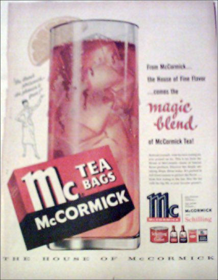 McCormick Tea ad