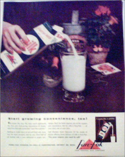 Purepak Milk Container ad
