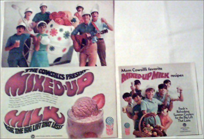 Milk ad featuring rock group The Cowsills
