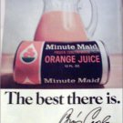 Minute Maid Orange Juice ad with Bing Crosby Autograph
