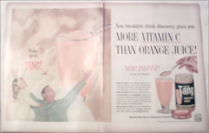Tang Orange Juice Introductory ad