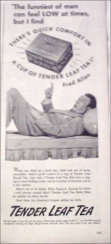 1945 Tender Leaf Tea ad featuring Fred Allen