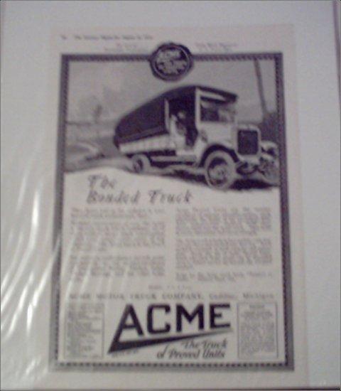 1918 Acme Truck ad