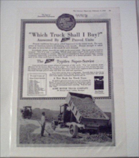 1918 Acme Dump Truck ad #1