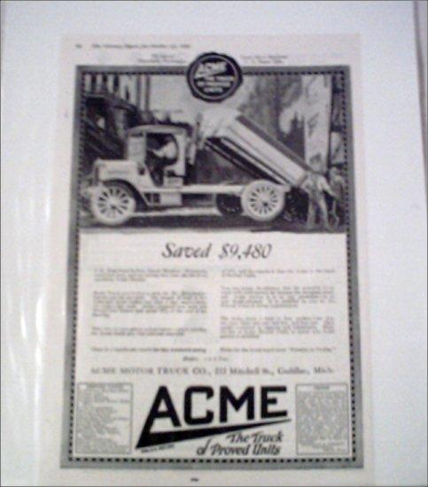1918 Acme Dump Truck ad #2