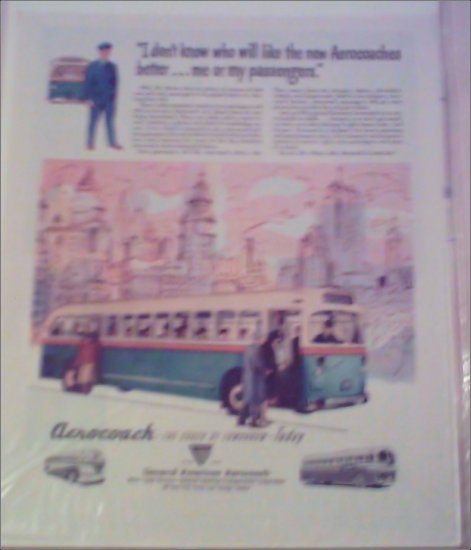 1948 Aerocoach Bus ad