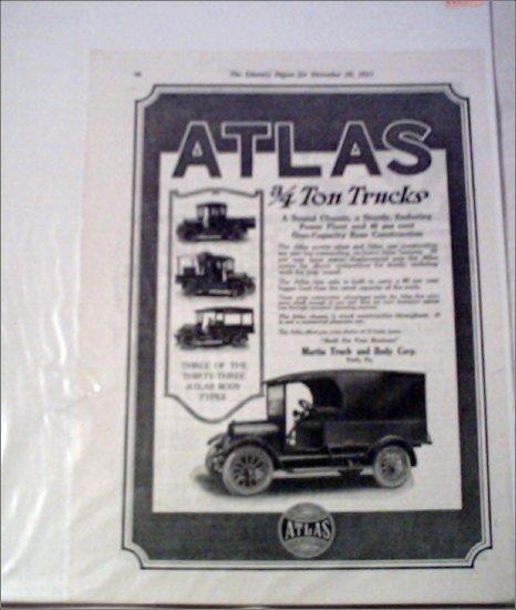 1918 Atlas Truck ad #1