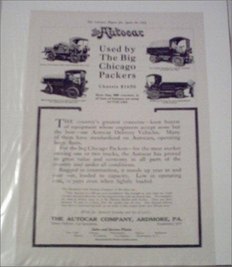 1916 Autocar Truck ad