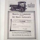 1917 Autocar Morris & Company Truck ad