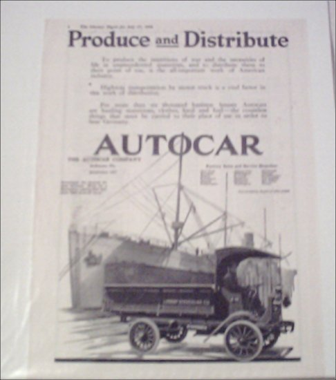 1918 Autocar Lorant Stevedore Company Truck ad