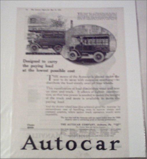 1919 Autocar Truck ad
