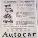1921 Autocar ad