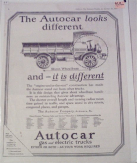 1924 Autocar Truck ad #2