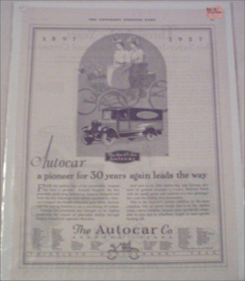 1927 Autocar Truck ad #2