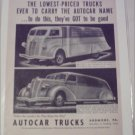 1937 Autocar Truck ad