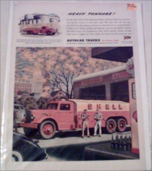 WW II Autocar Shell Oil Tanker Truck ad