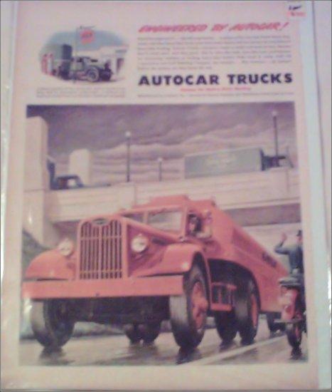 1945 Autocar Gulf Oil Company Tanker Truck ad
